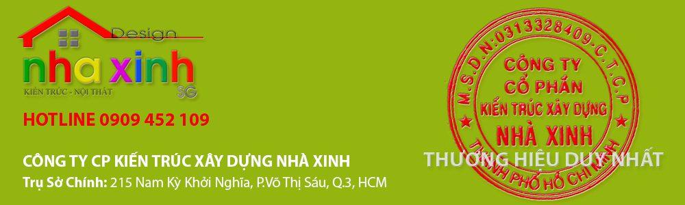 Banner con dấu Nhà Xinh