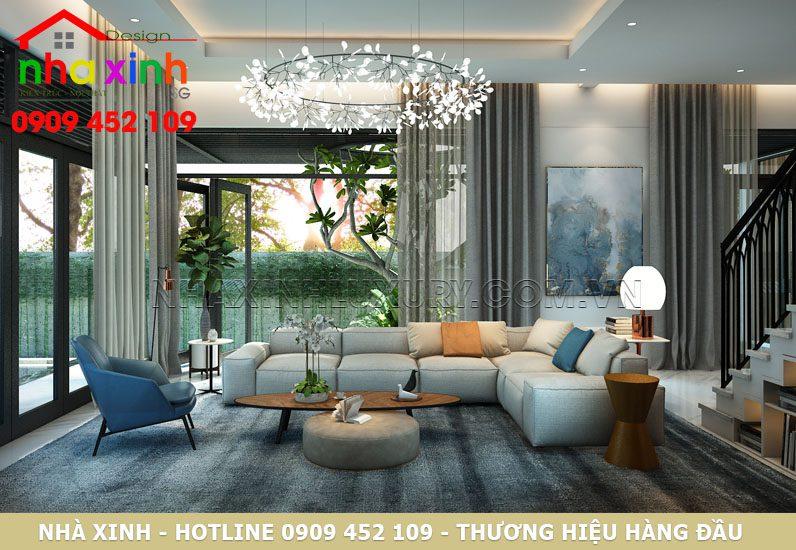 Thiết kế nội thất không gian phòng khách